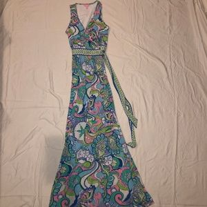 Lilly Pulitzer Bellina Maxi Wrap Dress Size Small